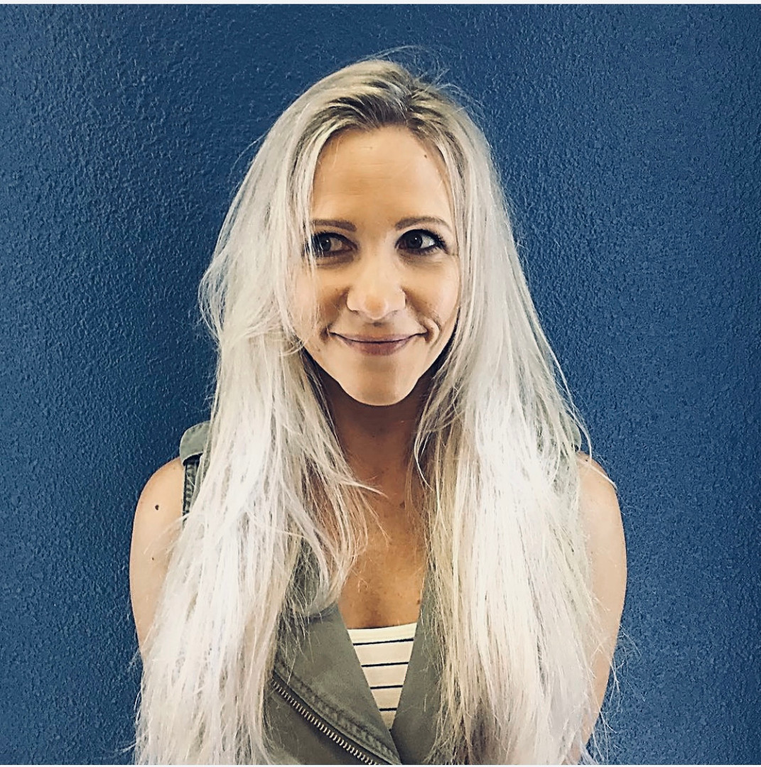 extensions and blonde by Amy