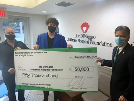Louis Hernandez Jr.'s Foundation For A Bright Future Announces Charitable Multi-Year Donation