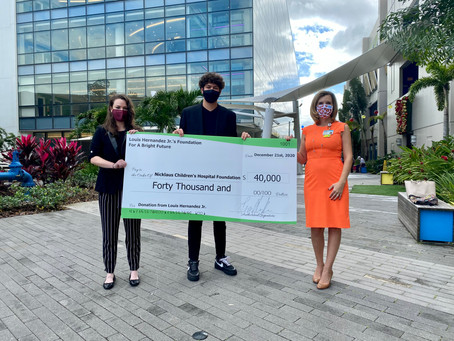 Louis Hernandez Jr.'s Foundation For A Bright Future Makes $40,000 Gift to  Children's Hospital