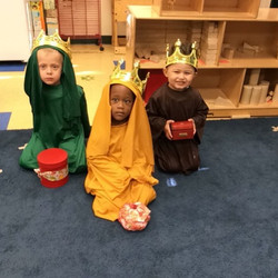 The Three Kings came today to our classr