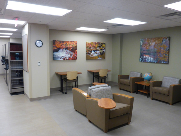 remodel, canteen, medical, media, library, oklahoma, city, healthcare, Spur, design, health care, campus, standards, development, scheduling, phasing, cost estimates, as-builts, architecture