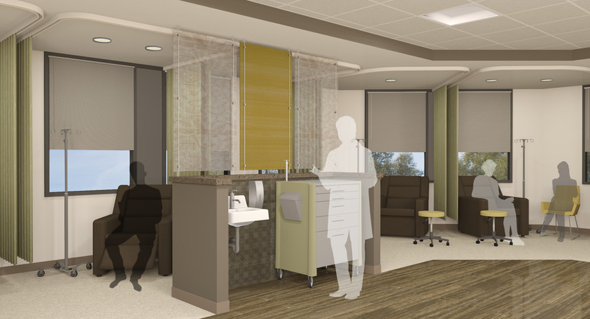 cancer, treatment, center, overton, brooks, VA, facility, Spur, design, architecture, radiation, therapy, healthcare, campus, mechanical, electrical, HVAC, design standards, clinical space, cost estimates, drawings, contract