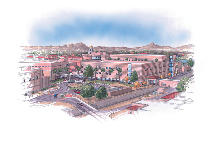 inpatient, bed tower, study, Spur, design, arizona, architecture, projections, patient loading, facility, infrastructure, historic, preservation, security, radiology, nuclear medicine, rehab, recreational, polytrauma, radiation, oncology, ancillary, support space