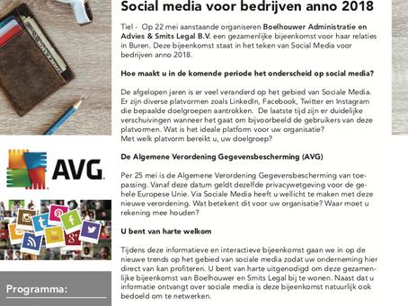 Uitnodiging: Social media voor bedrijven
