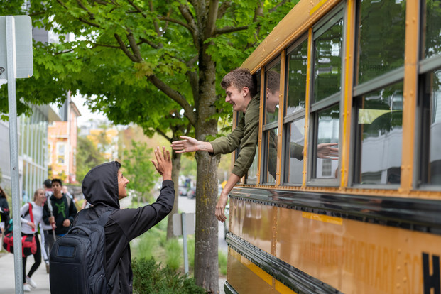 Seattle Academy School Bus