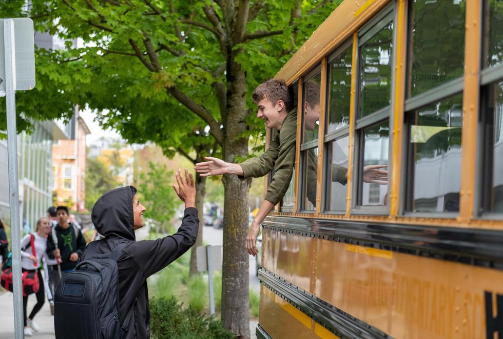 Seattle Academy School Bus