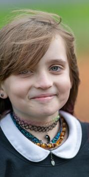 Portrait of Girl at School