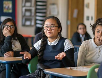 Rainier Prep Charter School Asian Girl Gesturing