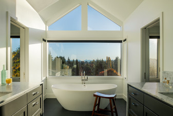 Modern Master Bathroom with Tub