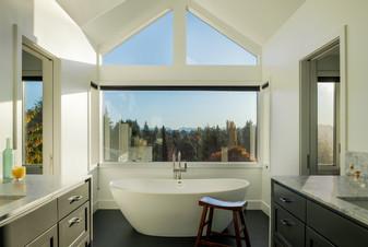 Modern Master Bathroom with Tub