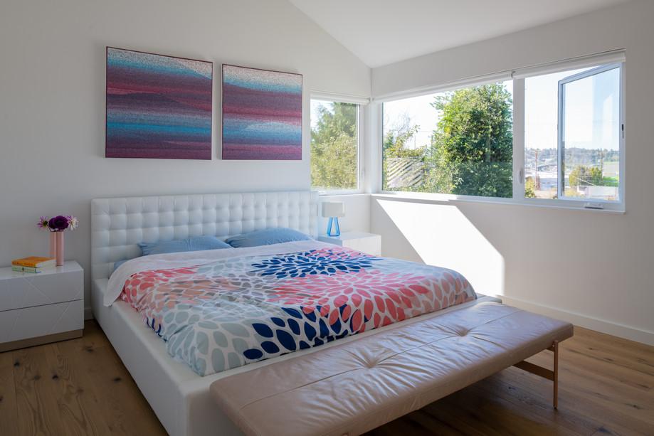 Modern residence master bedroom Seattle