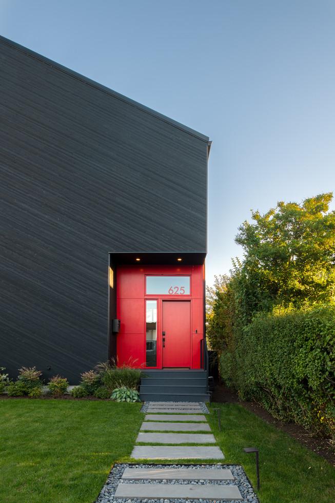 Modern black residence Seattle