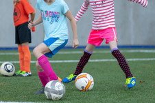 Villa Academy Girls Playing Soccer