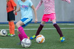 Villa Academy Girls Playing Soccer