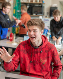 Boy in School Smiling