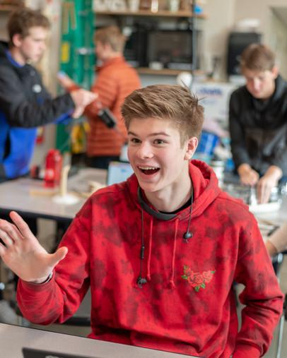 Seattle Academy High School Boy Laughing