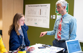 University Prep Teacher Giving Lesson