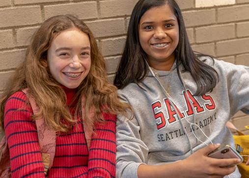 Seattle Academy High School Girls Smiling