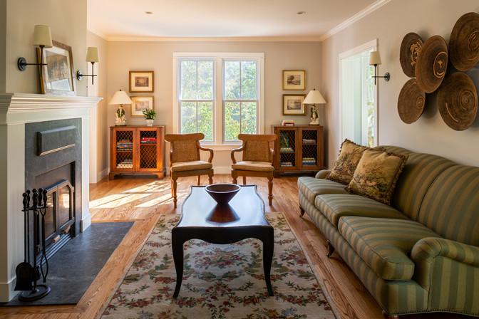 Bainbridge Island Farmhouse Remodel Living Room