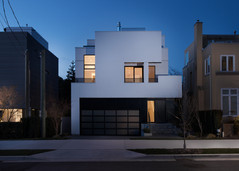Vancouver BC Exterior White Residential Flying Facade