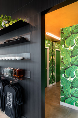 Santo Coffee Interior Jungle Wallpaper