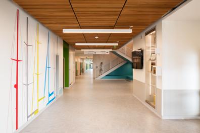 Browns Point Elementary School Interior Hallway