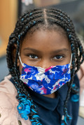 Portrait Black Girl Student Mask