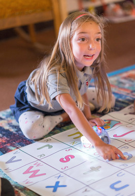 Charter School Elementary Girl Playing Game