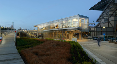 Husky Stadium Light Rail Station Exterior