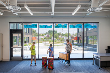 Browns Point Elementary School Interior Students Playing Music