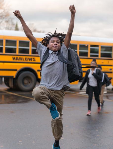 Black Boy Student Cheering Rainier Prep