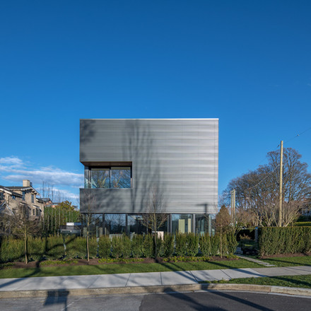 Exterior Residential Cube House Vancouver BC