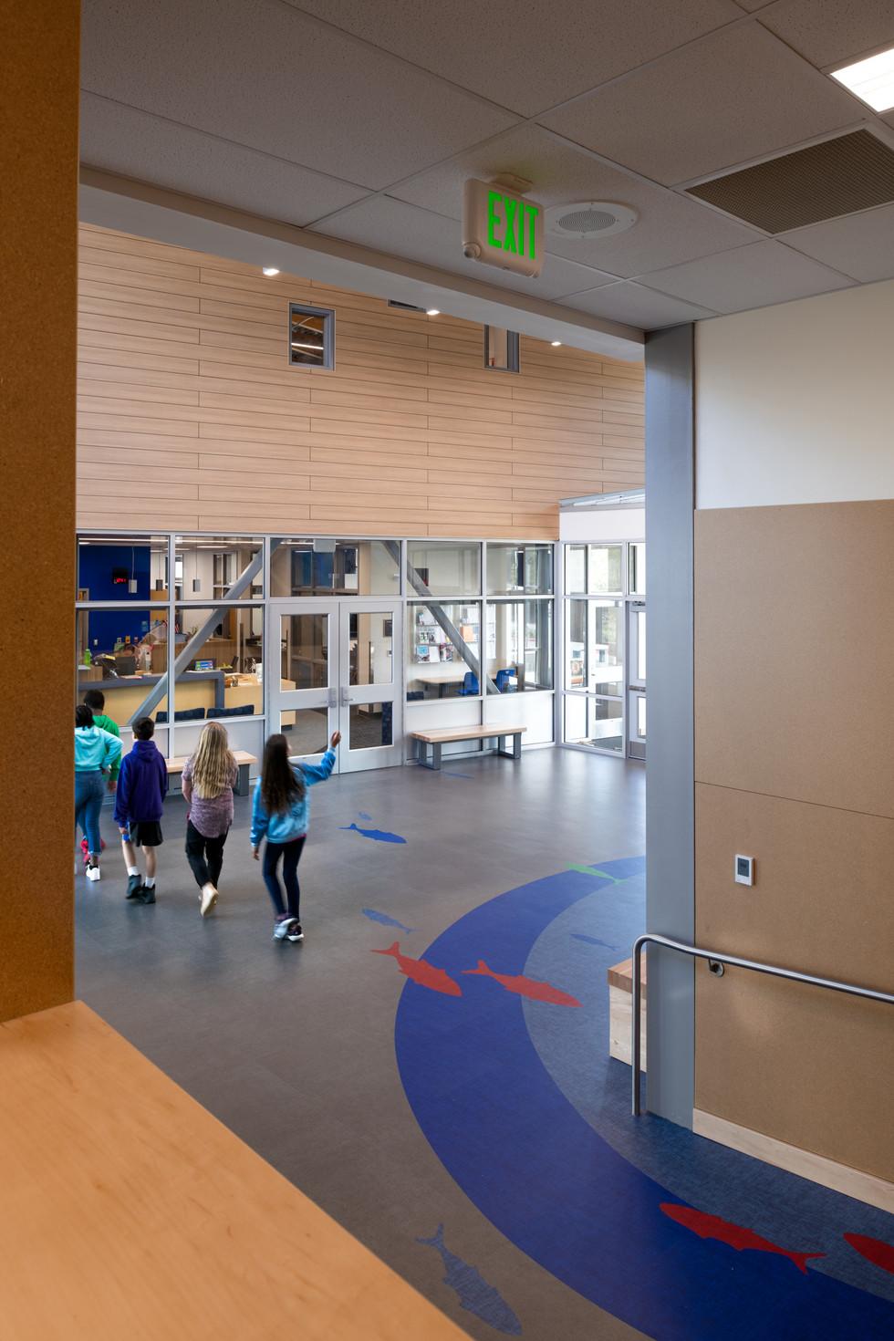 Des Moines Elementary School Interior Hallway