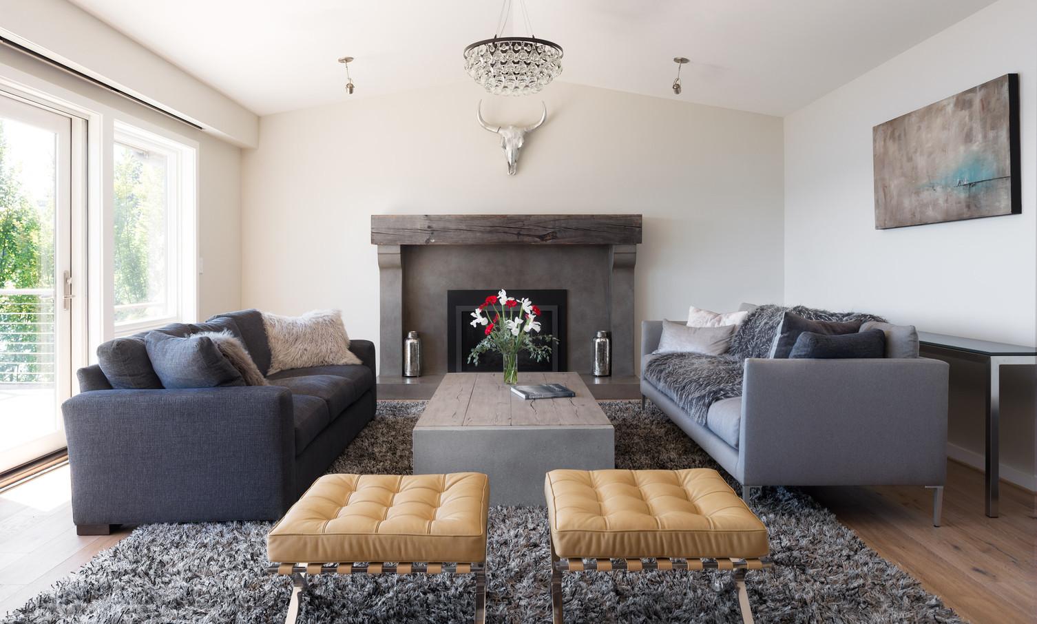 Laurelhurst Waterfront Luxury Home Remodel Living Room
