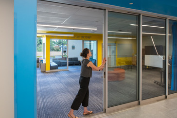 Browns Point Elementary School Sliding Glass Doors Library