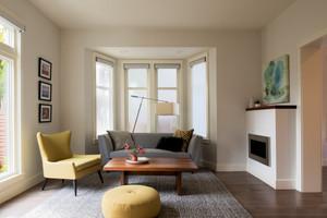 Interior Living Room Natural Light Bay Windows