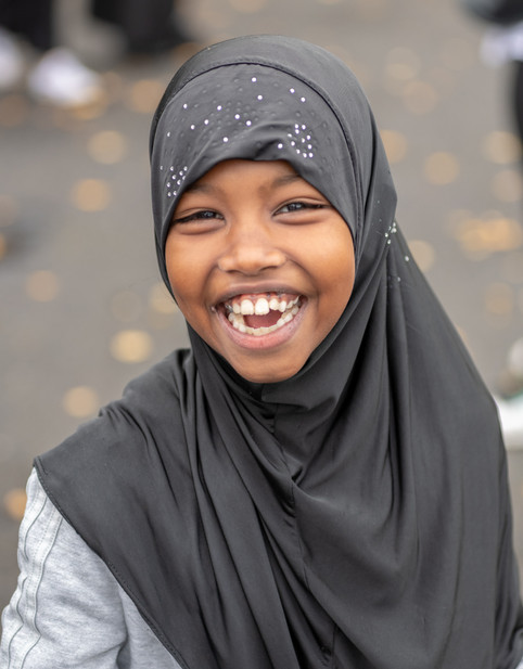 Girl Student in Hijab Smiling School