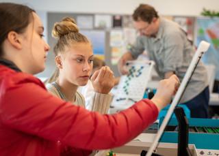 Seattle Academy High School Girls Studying