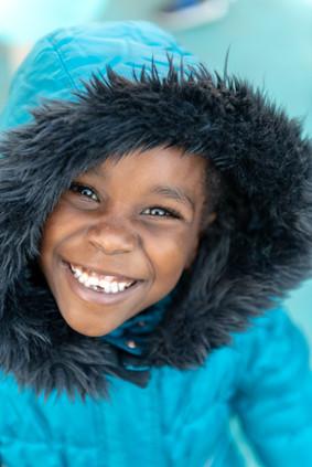 Portrait of Black Boy Smiling at school