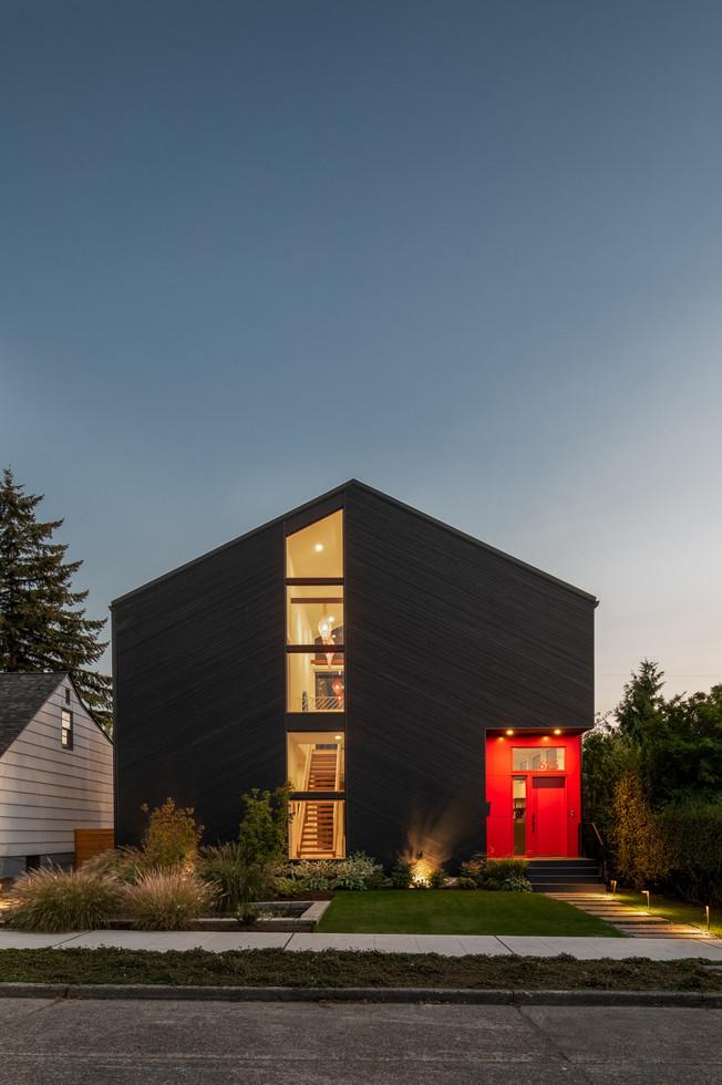 Modern residence exterior Seattle