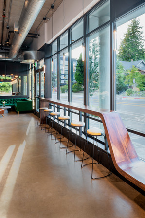 Santo Coffee Solid Wood Ribbon Bar Bench