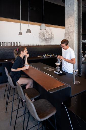 Santo Coffee Espresso Bar Interior