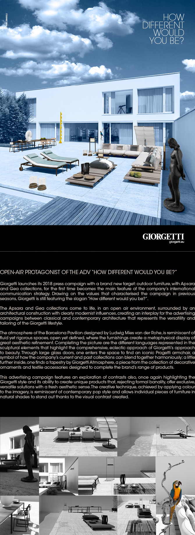 How different would you be? - Giorgetti Open Air