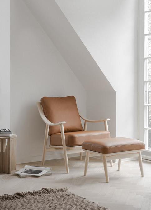 700 Marino Chair and 701 Marino Footstoo