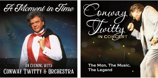 """TIME LIFE to Release Two Conway Twitty Live Albums: """"A Moment In Time – An Evening With Conway Twitty and Orchestra"""" and """"Conway Twitty in Concert – The Man, The Music, The Legend"""""""