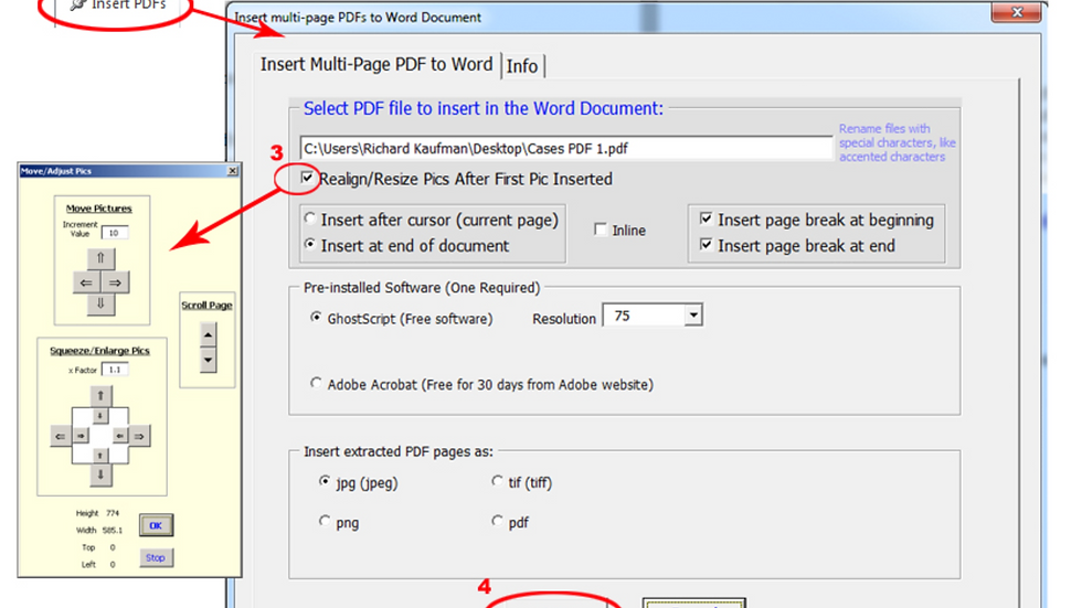 Insert PDF to Word