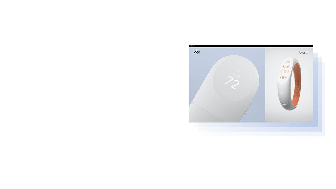 Projet sophistiqué d'une marque d'articles technologiques, créé par une agence qui fait partie des Partenaires Wix.