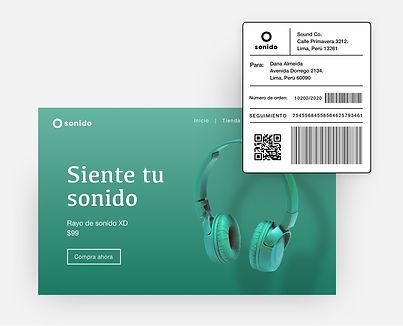 Wix eCommerce servicio de envío para una tienda online con una etiqueta de envío y página de finalizar compra