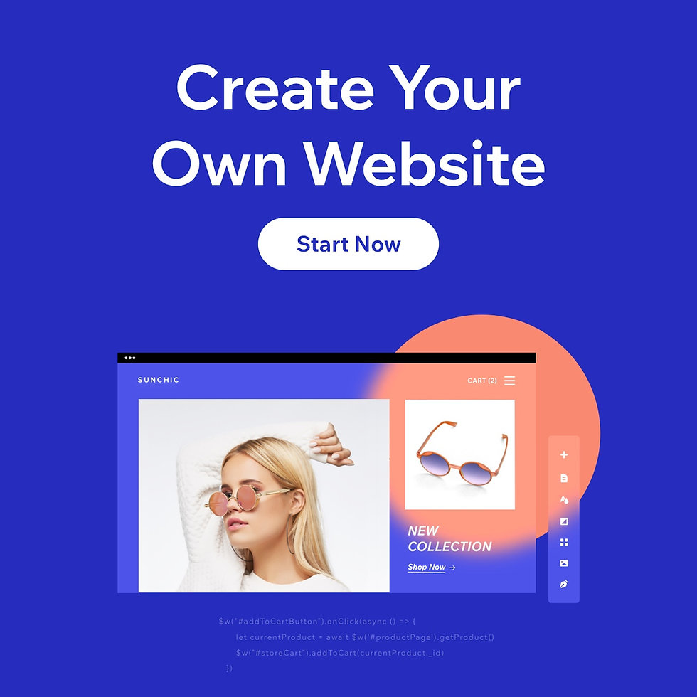 Create Your Own Website with Wix banner