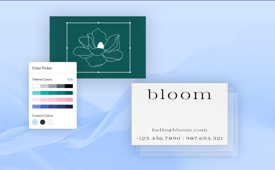 Florist website graphic design and logo.